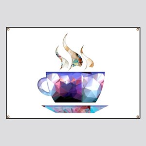 Mosaic Polygon Colorful Cup of Cocoa Banner