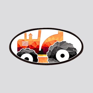 Polygon Mosaic Orange Tractor Patches