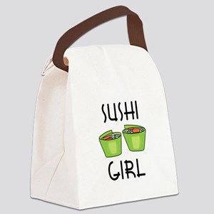 SUSHI GIRL Canvas Lunch Bag