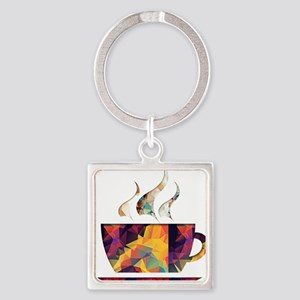 Colorful Cup of Coffee copy Keychains