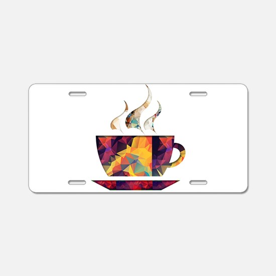 Colorful Cup of Coffee copy Aluminum License Plate