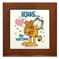 Hugs...No Waiting! Framed Tile