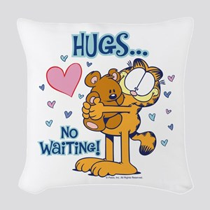 Hugs...No Waiting! Woven Throw Pillow