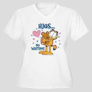 Hugs...No Waiting Women's Plus Size V-Neck T-Shirt