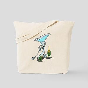 Martini Golf with Tee Tote Bag