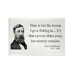 Henry David Thoreau 7 Rectangle Magnet (100 pack)