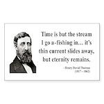 Henry David Thoreau 7 Rectangle Sticker
