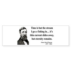 Henry David Thoreau 7 Bumper Bumper Sticker