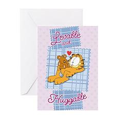 Lovable & Huggable Greeting Card