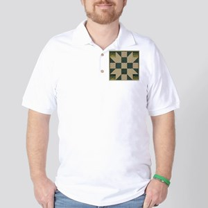 Patch Star Gold and Green copy Golf Shirt