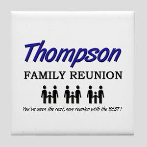 Thompson Family Reunion Tile Coaster