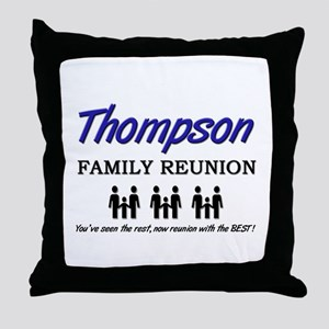 Thompson Family Reunion Throw Pillow