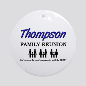 Thompson Family Reunion Ornament (Round)