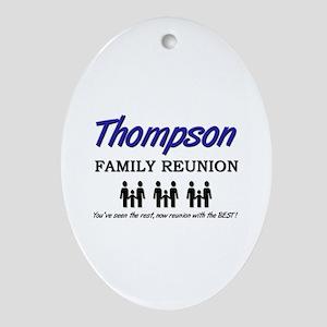 Thompson Family Reunion Oval Ornament