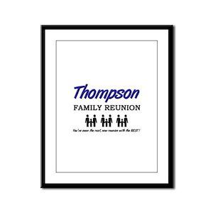Thompson Family Reunion Framed Panel Print
