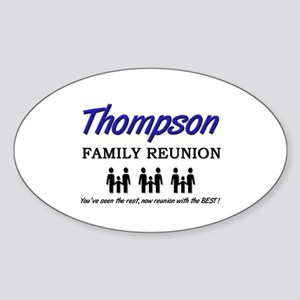 Thompson Family Reunion Oval Sticker