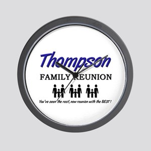 Thompson Family Reunion Wall Clock