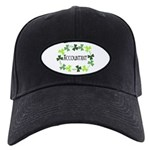 Accountant Shamrock Oval Black Cap