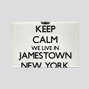 Keep calm we live in Jamestown New York Magnets