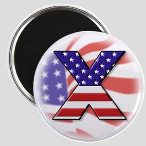 Flag Monogram X Magnet