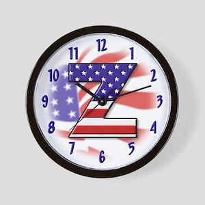 Flag Monogram X Wall Clock