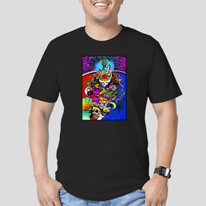 Psychedelic Doodle Men's Fitted T-Shirt (dark)