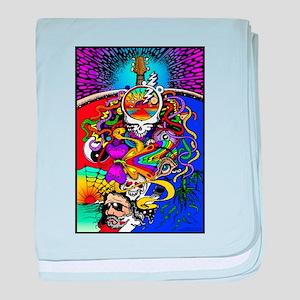 Psychedelic Doodle baby blanket