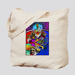 Psychedelic Doodle Tote Bag