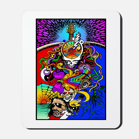 Psychedelic Doodle Mousepad