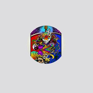 Psychedelic Doodle Mini Button