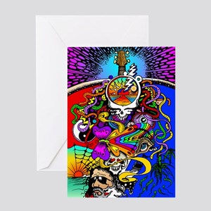 Psychedelic Doodle Greeting Card