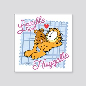"Lovable & Huggable Square Sticker 3"" x 3"""