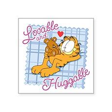Lovable & Huggable Square Sticker 3
