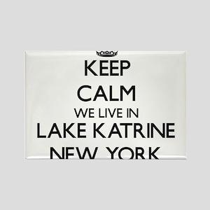 Keep calm we live in Lake Katrine New York Magnets