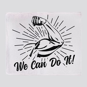 We Can Do It! Throw Blanket