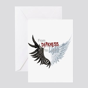 From Darkness To Light Greeting Cards