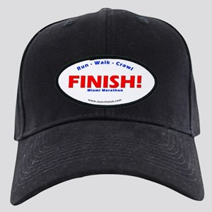 FINISH! Miami Marathon Black Cap