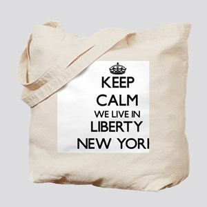 Keep calm we live in Liberty New York Tote Bag