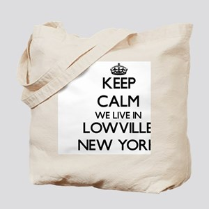 Keep calm we live in Lowville New York Tote Bag