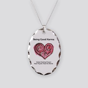 Being Good Karma Necklace Oval Charm