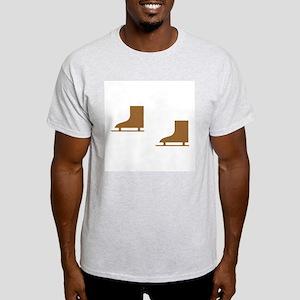 Brown Ice Skates Light T-Shirt