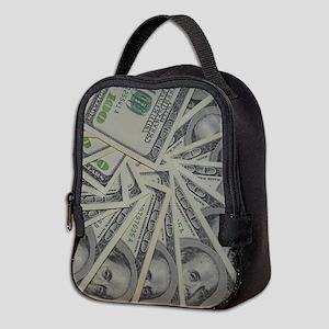 swirl hundred dollar bills Neoprene Lunch Bag