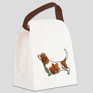 bassett hound Canvas Lunch Bag