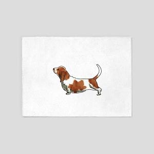 bassett hound 5'x7'Area Rug