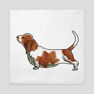 bassett hound Queen Duvet