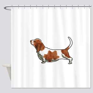 bassett hound Shower Curtain