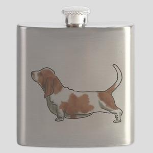 bassett hound Flask