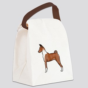 basenji Canvas Lunch Bag