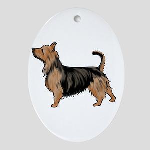 australian terrier Ornament (Oval)