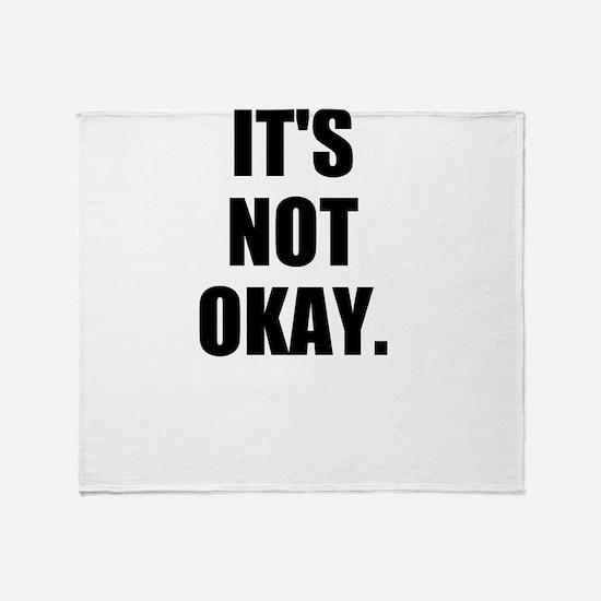 Sexual assault must stop Throw Blanket